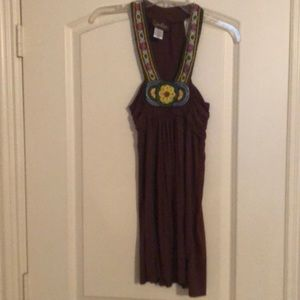 Dressy tank with detailed beading, boho/flowy fit